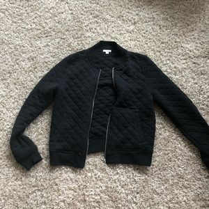 GAP Jackets & Coats - Gap black quilted bomber jacket size medium